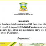 COMUNICADO DE LA ALCALDÍA Y EL DEPARTAMENTO DE COMUNICACIÓN